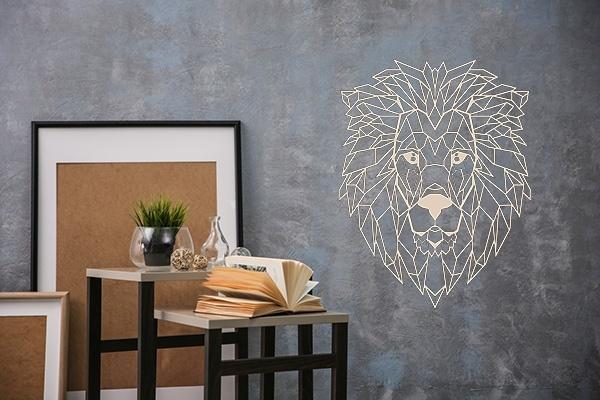 Verwonderlijk Houten leeuw | Wanddecoratie leeuw | Geometrische leeuwenkop BH-48
